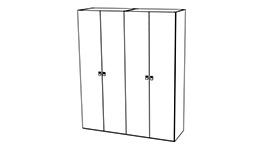 спальня onda white: Шкаф 4-дверный распашной