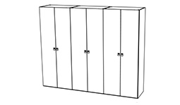 спальня onda white: Шестидверный шкаф