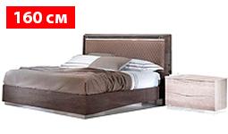 спальня platinum: Кровать 160 ROMBI с подсветкой с п/механизмом LUNA