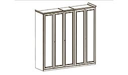 спальня nostalgia: Пятидверный шкаф 250 см