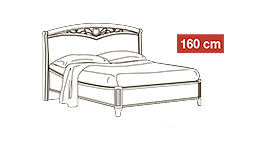 спальня nostalgia: Кровать 160x200 арт.11