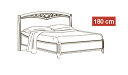 спальня nostalgia: Кровать 180x200 арт.17