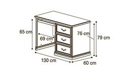 спальня nostalgia: Компьютерный стол арт.10