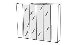 спальня platinum: Шкаф 6-ти дв. с зеркалами