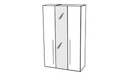 спальня platinum: Шкаф 3-х дв. с зеркалами